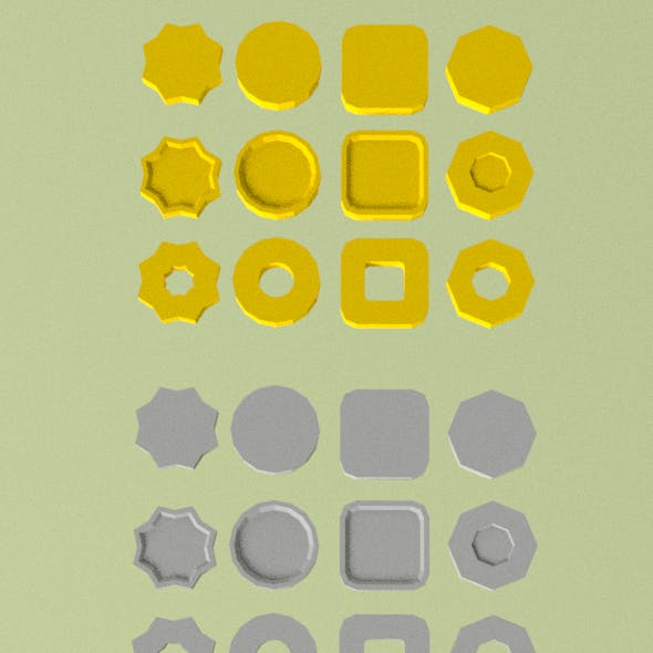 Low poly coins