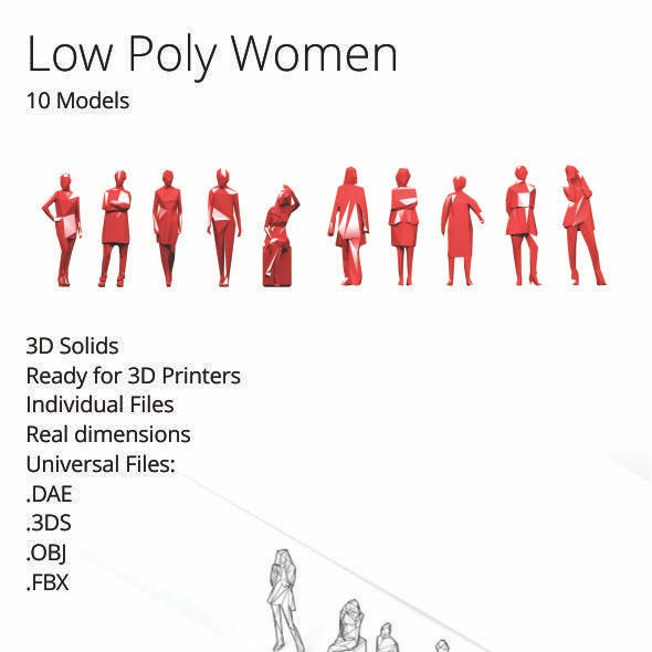 Low Poly Women Pack
