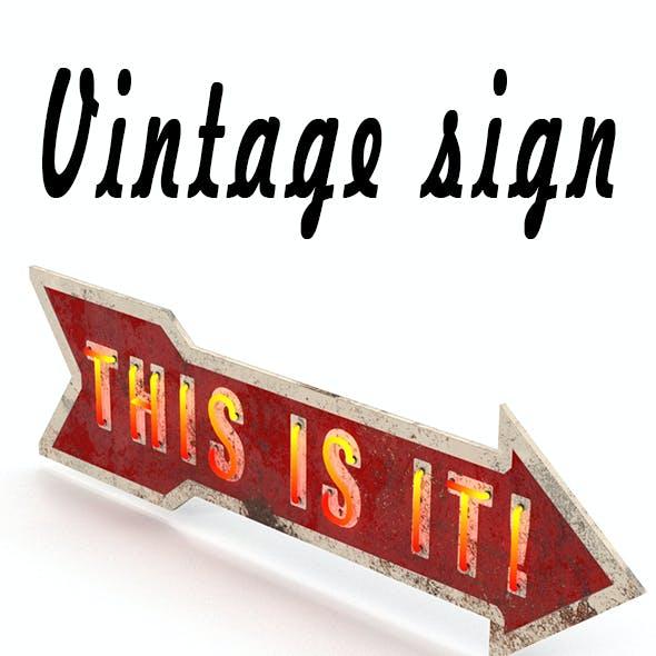 Vintage neon sign
