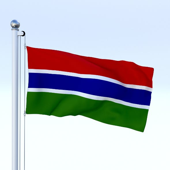 Animated Gambia Flag - 3DOcean Item for Sale