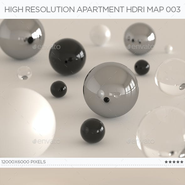 High Resolution Apartment HDRi Map 003
