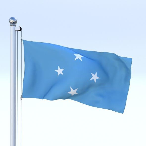 Animated Federated States of Micronesia Flag