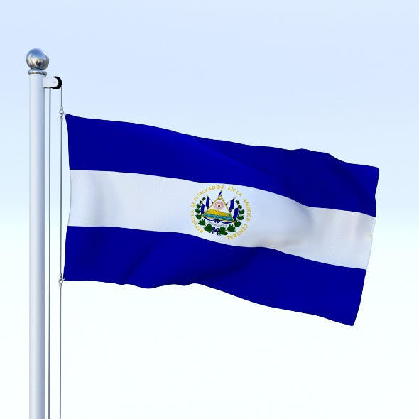 Animated El Salvador Flag - 3DOcean Item for Sale