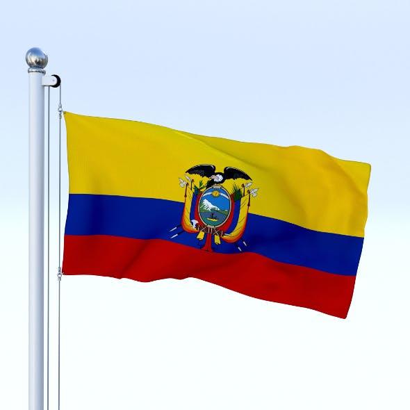 Animated Ecuador Flag - 3DOcean Item for Sale