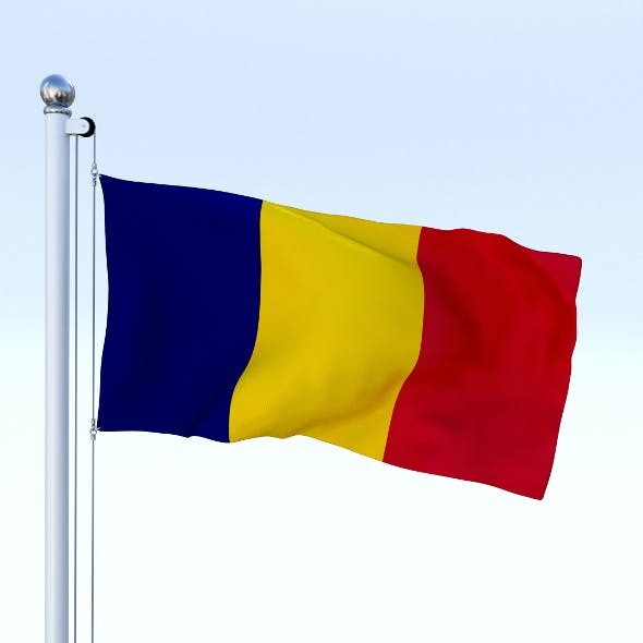 Animated Chad Flag - 3DOcean Item for Sale