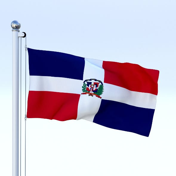 Animated Dominican Republic Flag - 3DOcean Item for Sale