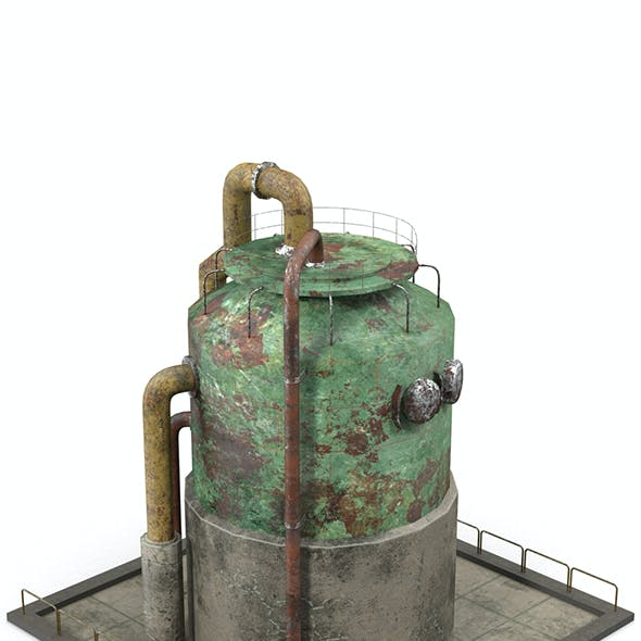 Rusty Industrial Tank
