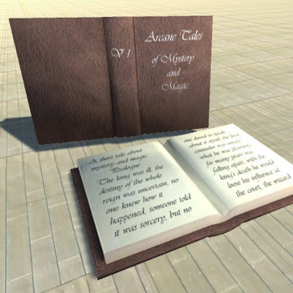 Arcane Book LowPoly 3D model Fbx and Unity 5 ready