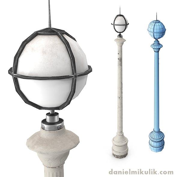 Retro Street Lamp Low poly 3d model