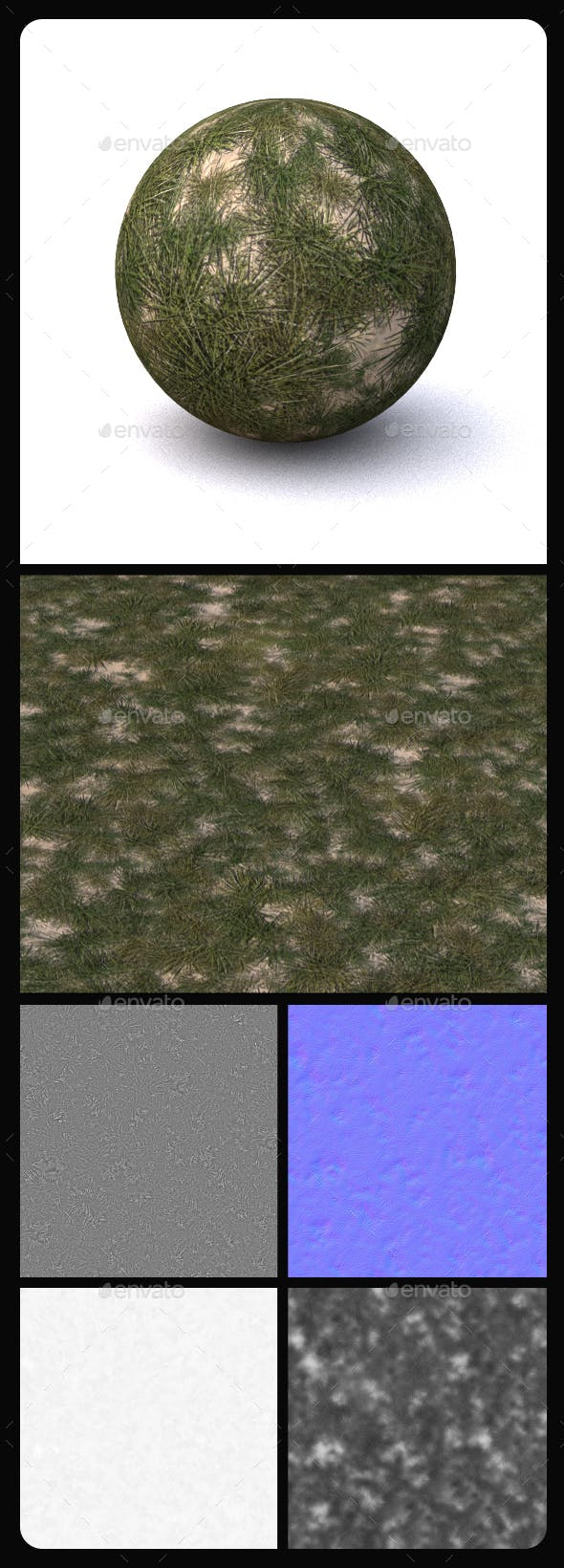 Grass Tile Texture 5 - 3DOcean Item for Sale