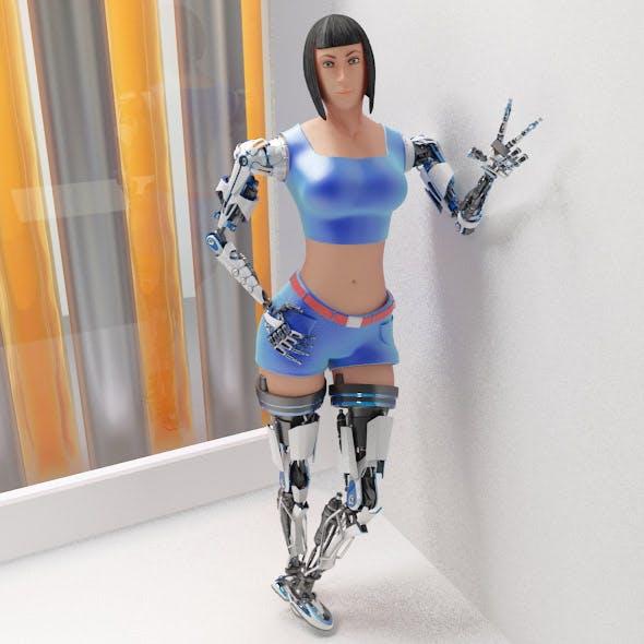 Woman cyborg 001