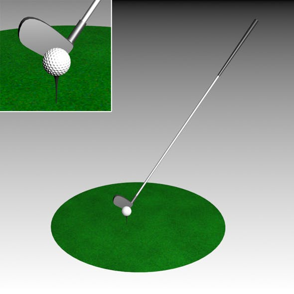 Golf Club and Ball - 3DOcean Item for Sale