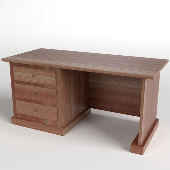 Desk with Drawers 1 - 3DOcean Item for Sale