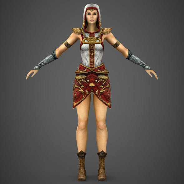 Fantasy Female Princess - 3DOcean Item for Sale