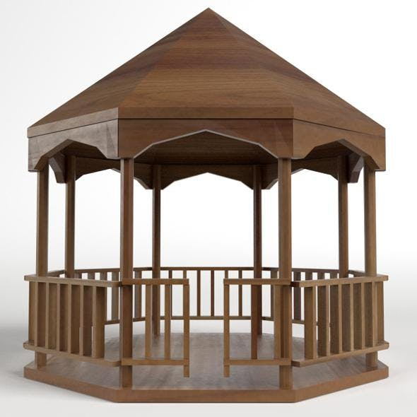 Garden Kiosk Outdoor Pavilion 2 - 3DOcean Item for Sale