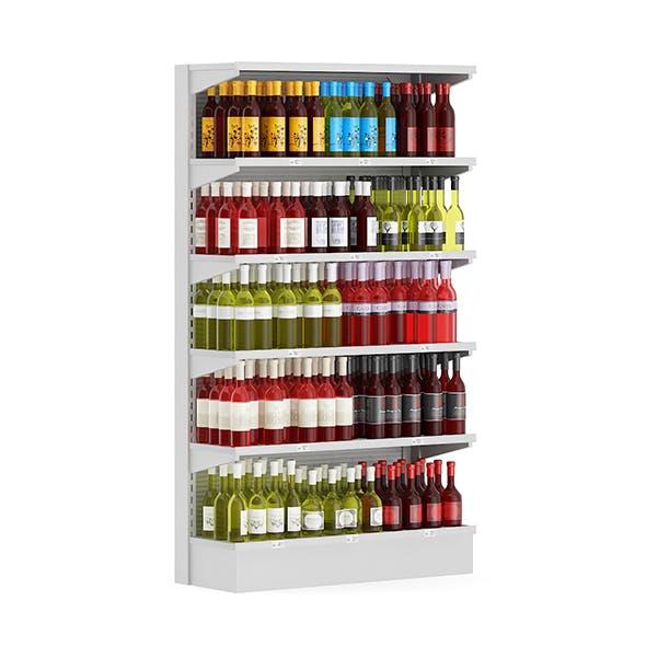 Market Shelf - Wines - 3DOcean Item for Sale