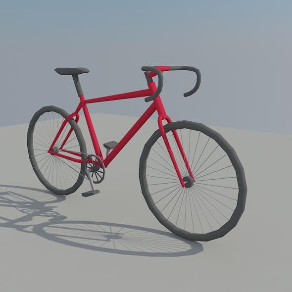 Low Poly Bike - 3DOcean Item for Sale