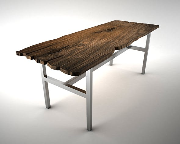 Live Edge - Wooden Table - 3DOcean Item for Sale