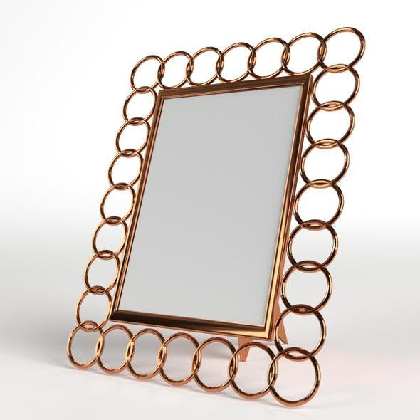 Photo Picture Frame with Copper Rings