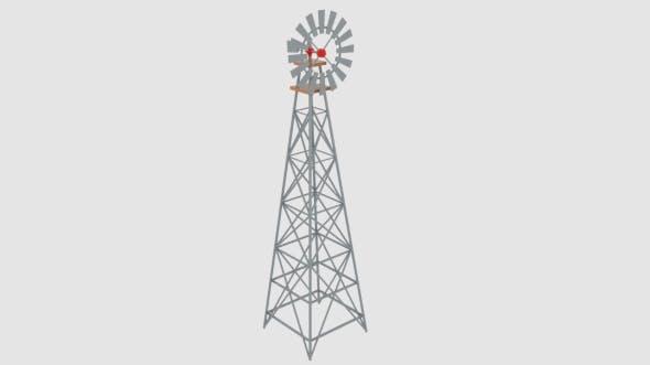 Wind Pump Nevadan Dessert - 3DOcean Item for Sale
