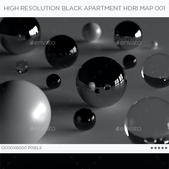High Resolution Black Apartment HDRi Map 001