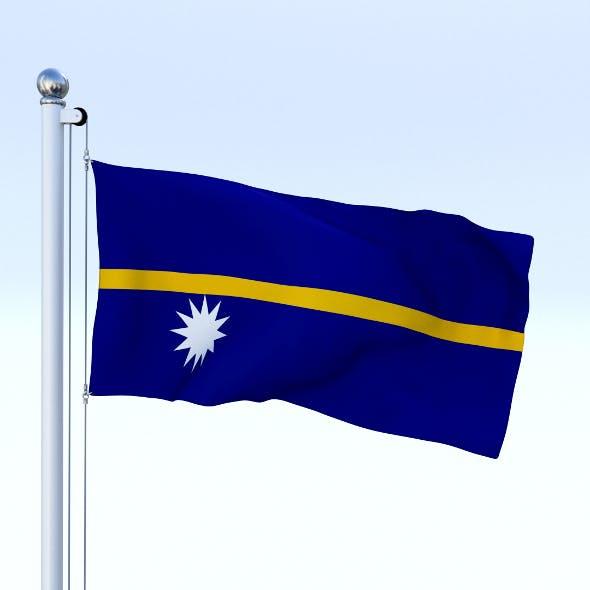 Animated Nauru Flag