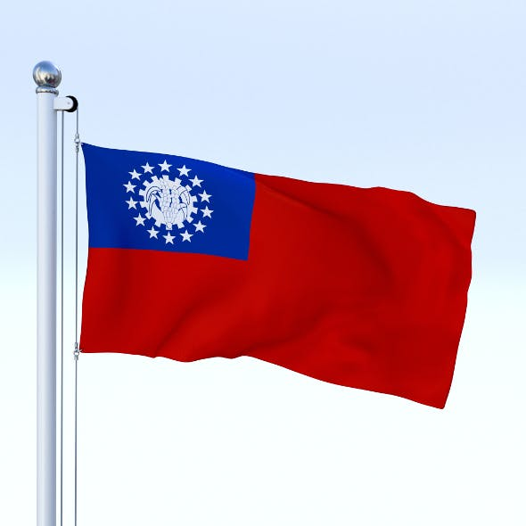 Animated Myanmar Flag - 3DOcean Item for Sale