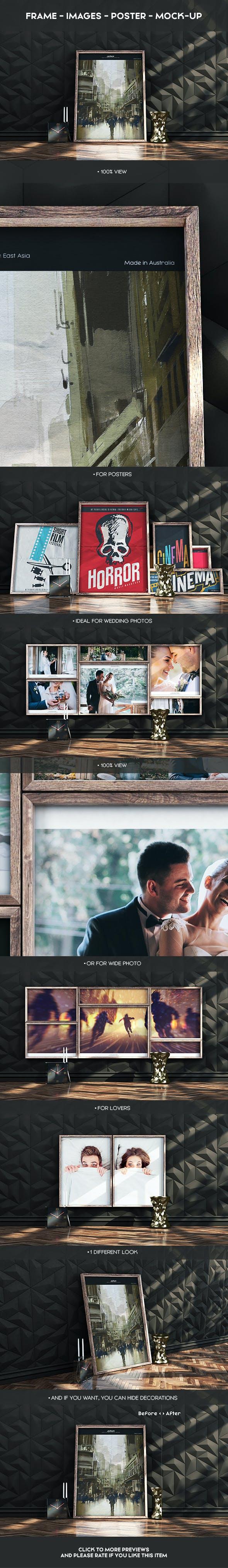 Poster Mock-Up Cinema 4d+Vray - 3DOcean Item for Sale