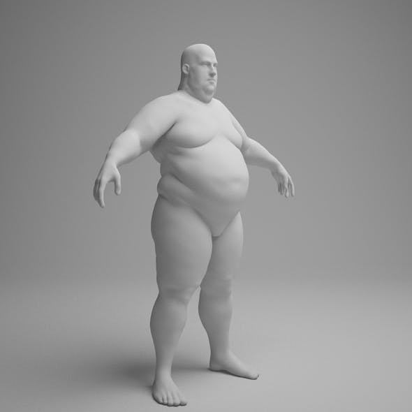 obese male character - 3DOcean Item for Sale