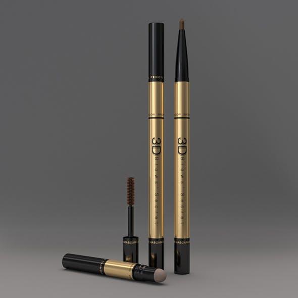 Cosmetic Packaging 3 in 1 Eye Brows Product