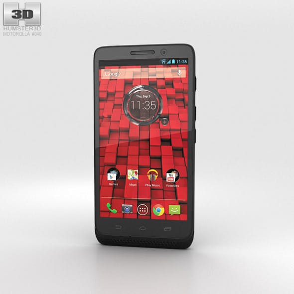 Motorola Droid Mini Black - 3DOcean Item for Sale
