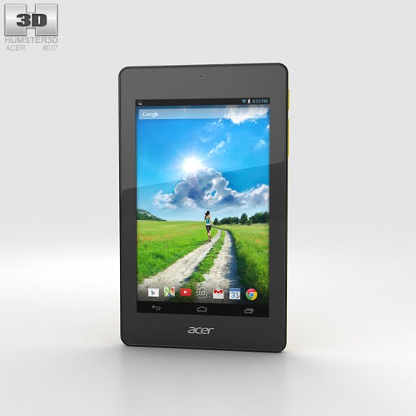 Acer Iconia One 7 B1-730 Yellow - 3DOcean Item for Sale