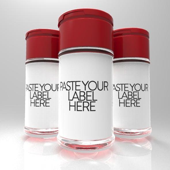 Powder & 3 Supplement Bottle for Amazon