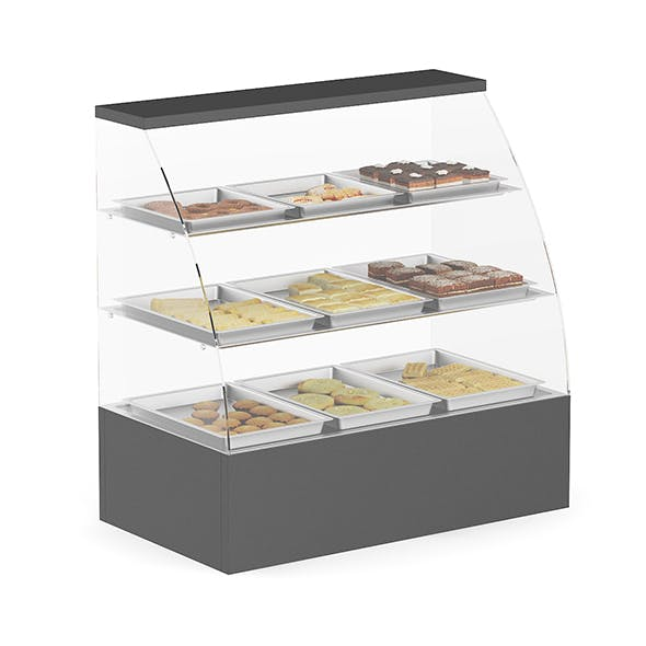 Market Shelf - Cakes and Pies - 3DOcean Item for Sale