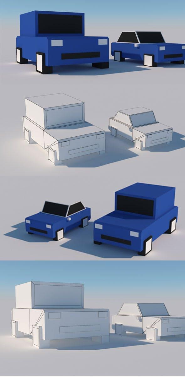Cartoon Box Car Model - 3DOcean Item for Sale