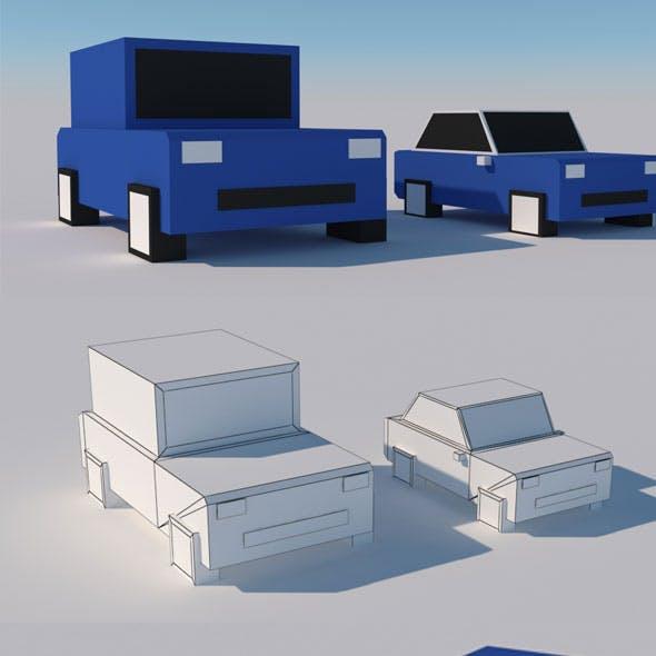 Cartoon Box Car Model