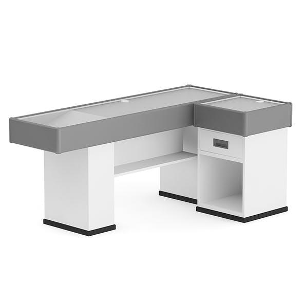 Grey Cashier Desk