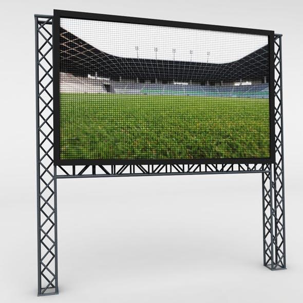 Telebim LED video scaffolding - 3DOcean Item for Sale