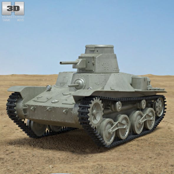 Type 95 Ha-Go - 3DOcean Item for Sale