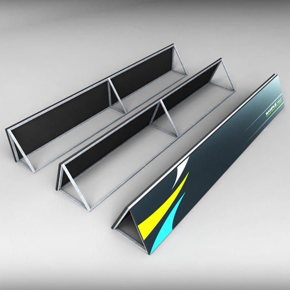 Stadium Advertising Commercial Board low poly - 3DOcean Item for Sale