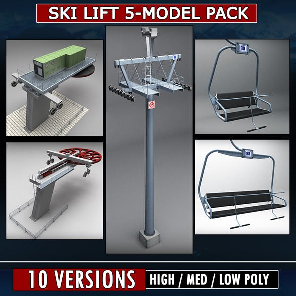 Ski lift mountain winter pack