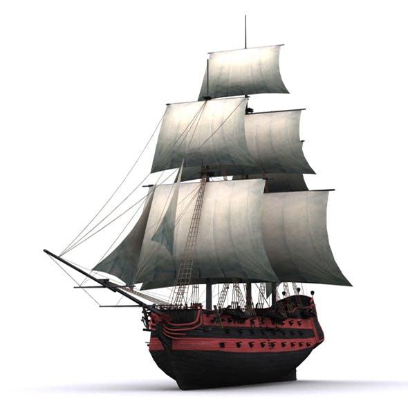 Frigate Black - 3DOcean Item for Sale