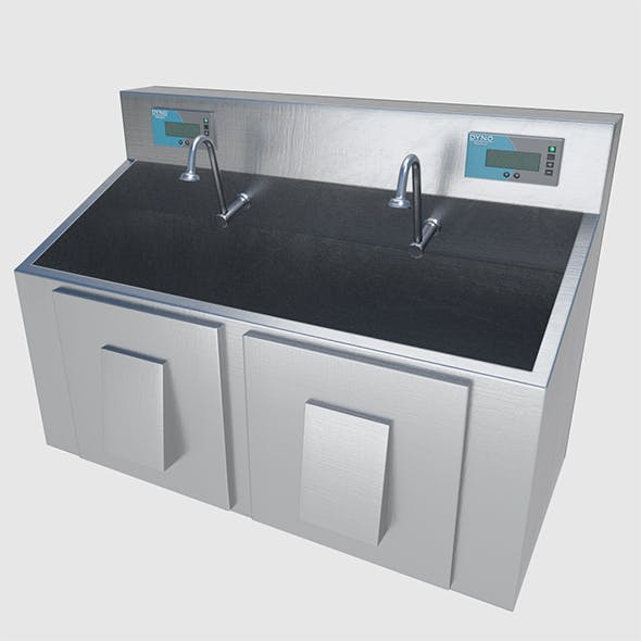 Scrub Sink - High and Low Poly