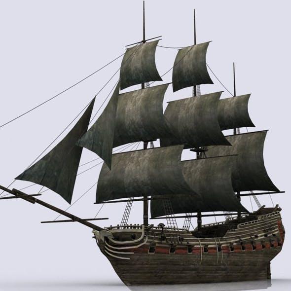 Old sailing warship