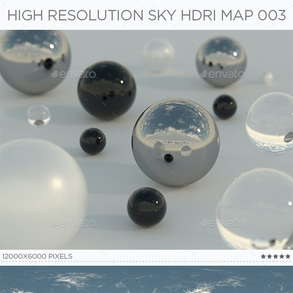 High Resolution Sky HDRi Map 003