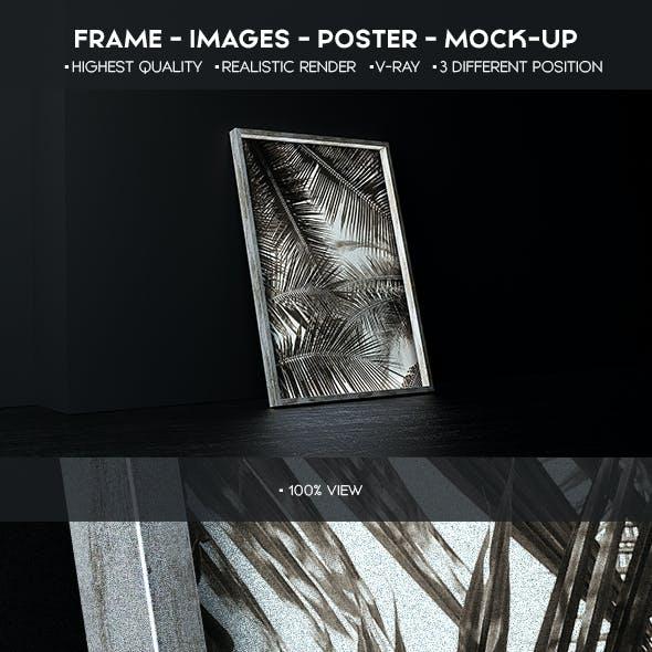 Poster Mock-Up Cinema 4d+Vray