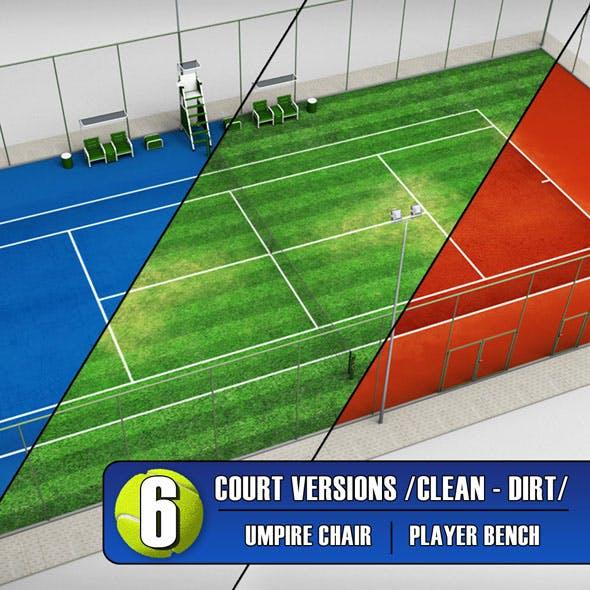 Tennis court stadium arena pack - 3DOcean Item for Sale