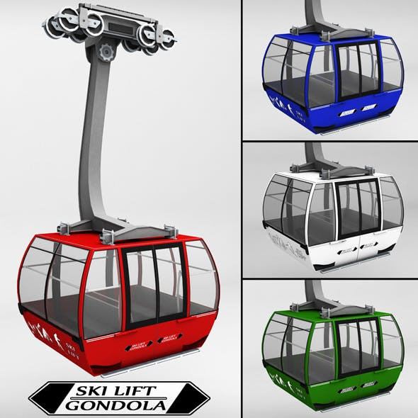 Ski lift gondola cable car