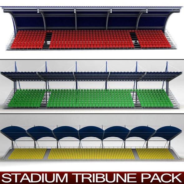 Stadium Seating Tribune Pack - 3DOcean Item for Sale