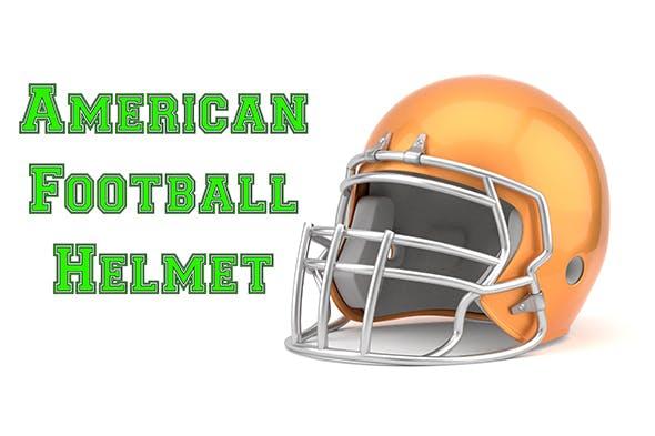 American Football Helmet Model - 3DOcean Item for Sale